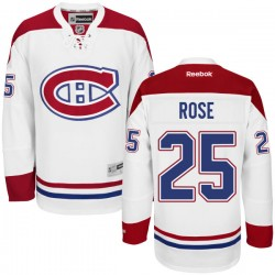 Adult Montreal Canadiens Jacob De La Rose Reebok White Authentic Away NHL Jersey