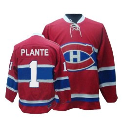 Adult Montreal Canadiens Jacques Plante CCM Red Premier Throwback NHL Jersey