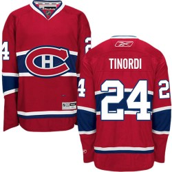 Adult Montreal Canadiens Jarred Tinordi Reebok Red Authentic Home NHL Jersey