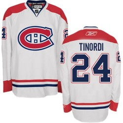 Adult Montreal Canadiens Jarred Tinordi Reebok White Authentic Away NHL Jersey