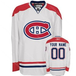 Reebok Montreal Canadiens Men's Customized Premier White Away Jersey