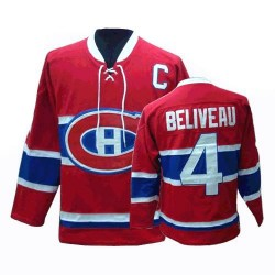 Adult Montreal Canadiens Jean Beliveau CCM Red Authentic Throwback NHL Jersey
