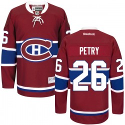Adult Montreal Canadiens Jeff Petry Reebok Red Authentic Home NHL Jersey