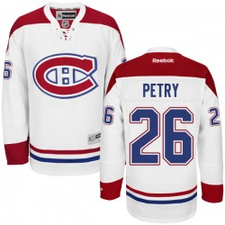 Adult Montreal Canadiens Jeff Petry Reebok White Authentic Away NHL Jersey