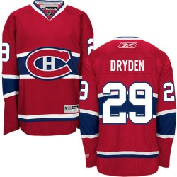 Adult Montreal Canadiens Ken Dryden Reebok Red Authentic Home NHL Jersey