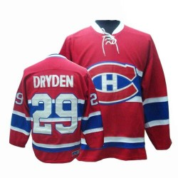 Adult Montreal Canadiens Ken Dryden CCM Red Authentic Throwback NHL Jersey