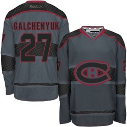 Adult Montreal Canadiens Alex Galchenyuk Reebok Premier Charcoal Cross Check Fashion NHL Jersey