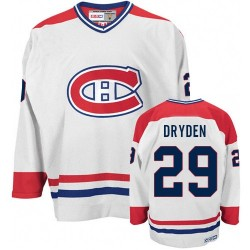 Adult Montreal Canadiens Ken Dryden CCM White Authentic CH Throwback NHL Jersey