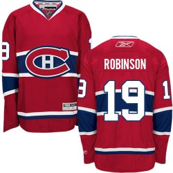 Adult Montreal Canadiens Larry Robinson Reebok Red Premier Home NHL Jersey