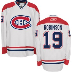 Adult Montreal Canadiens Larry Robinson Reebok White Authentic Away NHL Jersey