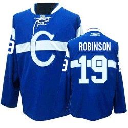 Adult Montreal Canadiens Larry Robinson Reebok Blue Premier Third NHL Jersey