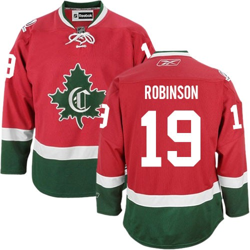 Adult Montreal Canadiens Larry Robinson Reebok Red Premier New CD Third NHL Jersey
