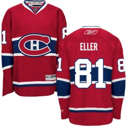 Adult Montreal Canadiens Lars Eller Reebok Red Authentic Home NHL Jersey
