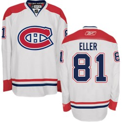 Adult Montreal Canadiens Lars Eller Reebok White Authentic Away NHL Jersey