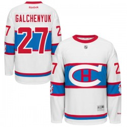Adult Montreal Canadiens Alex Galchenyuk Reebok Black Premier 2016 Winter Classic NHL Jersey
