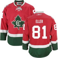 Adult Montreal Canadiens Lars Eller Reebok Red Authentic New CD Third NHL Jersey