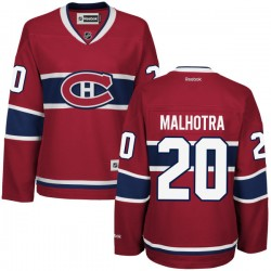 Women's Montreal Canadiens Manny Malhotra Reebok Red Authentic Home NHL Jersey