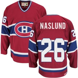 Adult Montreal Canadiens Mats Naslund CCM Red Authentic Throwback NHL Jersey