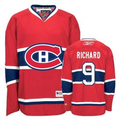 Adult Montreal Canadiens Maurice Richard Reebok Red Authentic Home NHL Jersey