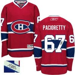 Adult Montreal Canadiens Max Pacioretty Reebok Red Authentic Autographed Home NHL Jersey