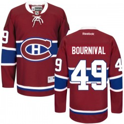 Adult Montreal Canadiens Michael Bournival Reebok Red Authentic Home NHL Jersey