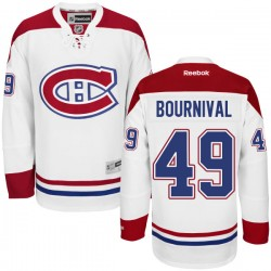 Adult Montreal Canadiens Michael Bournival Reebok White Premier Away NHL Jersey