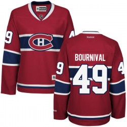 Women's Montreal Canadiens Michael Bournival Reebok Red Authentic Home NHL Jersey