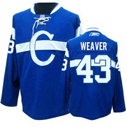Adult Montreal Canadiens Mike Weaver Reebok Blue Authentic Third NHL Jersey