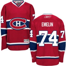 Adult Montreal Canadiens Alexei Emelin Reebok Red Authentic Home NHL Jersey
