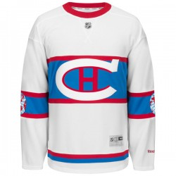 Adult Montreal Canadiens Mike Weaver Reebok Black Premier 2016 Winter Classic NHL Jersey