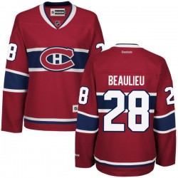 Women's Montreal Canadiens Nathan Beaulieu Reebok Red Authentic Home NHL Jersey