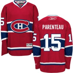 Adult Montreal Canadiens P. A. Parenteau Reebok Red Authentic Home NHL Jersey
