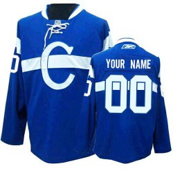 Reebok Montreal Canadiens Men's Customized Premier Blue Third Jersey