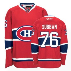 Adult Montreal Canadiens P.K. Subban Reebok Red Authentic P.K Subban Home NHL Jersey