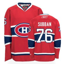 Adult Montreal Canadiens P.K. Subban Reebok Red Premier P.K Subban Home NHL Jersey