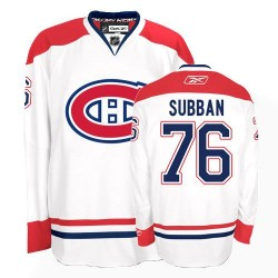 Adult Montreal Canadiens P.K. Subban Reebok White Premier P.K Subban Away NHL Jersey