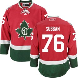 Adult Montreal Canadiens P.K. Subban Reebok Red Premier P.K Subban New CD Third NHL Jersey