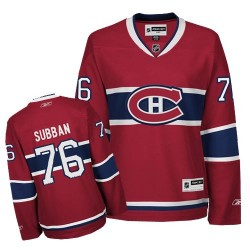 Women's Montreal Canadiens P.K. Subban Reebok Red Authentic P.K Subban Home NHL Jersey