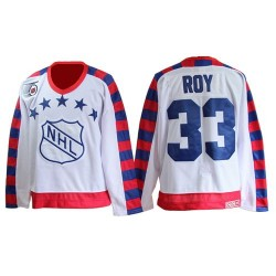 Adult Montreal Canadiens Patrick Roy CCM White Authentic All Star Throwback 75TH NHL Jersey