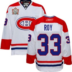 Adult Montreal Canadiens Patrick Roy Reebok White Authentic Heritage Classic NHL Jersey