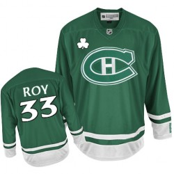 Adult Montreal Canadiens Patrick Roy Reebok Green Authentic St Patty's Day NHL Jersey
