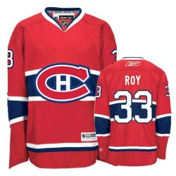 Youth Montreal Canadiens Patrick Roy Reebok Red Authentic Home NHL Jersey