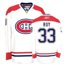 Youth Montreal Canadiens Patrick Roy Reebok White Authentic Away NHL Jersey