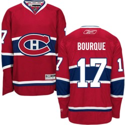 Adult Montreal Canadiens Rene Bourque Reebok Red Authentic Home NHL Jersey
