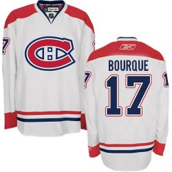 Adult Montreal Canadiens Rene Bourque Reebok White Premier Away NHL Jersey