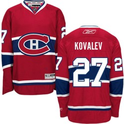 Adult Montreal Canadiens Alexei Kovalev Reebok Red Authentic Home NHL Jersey