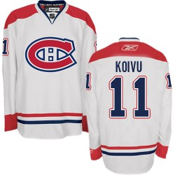 Adult Montreal Canadiens Saku Koivu Reebok White Premier Away NHL Jersey