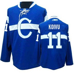 Adult Montreal Canadiens Saku Koivu Reebok Blue Authentic Third NHL Jersey