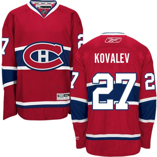 Adult Montreal Canadiens Alexei Kovalev Reebok Red Premier Home NHL Jersey