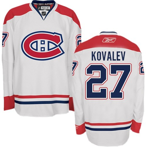Adult Montreal Canadiens Alexei Kovalev Reebok White Authentic Away NHL Jersey